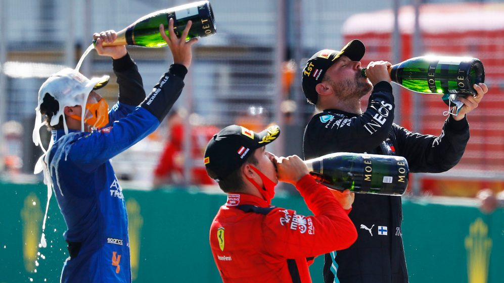 Valtteri Bottas has struck the first blow in the 2020 season, winning the Austrian Grand Prix from Ferrari's Charles Leclerc, as Lewis Hamilton was